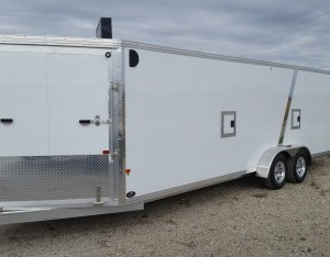 SnoPro Stealth Aluminum Enclosed Snowmobile Trailer