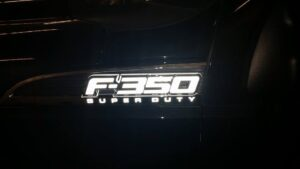 F350 badge lighted